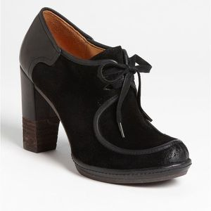 Naya Mindy Lace Up Heeled Oxford Suede Boots